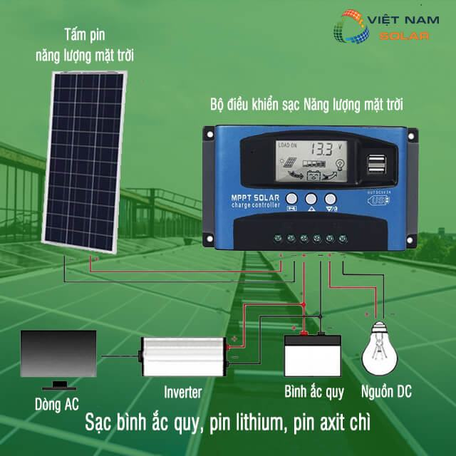 Pin năng lượng mặt trời sạc cho bình acquy hoạt động như thế nào