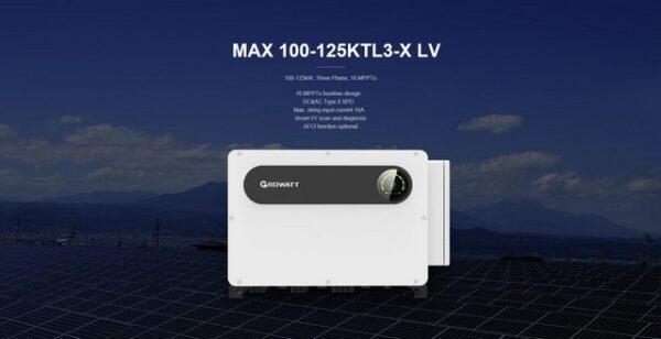 Inverter hoà lưới Growatt Max 100-125KTL3-X LV công suất 100-125kW 3 Pha