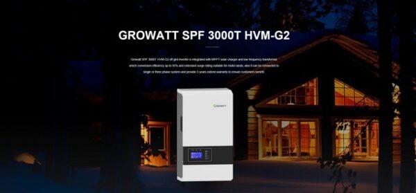 Inverter hoà lưới Growatt SPF 3000T HVM-G2