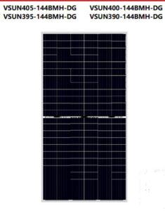 Tấm pin năng lượng mặt trời Vsun405-144BMH-DG công suất 405W