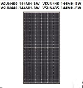 Tấm pin năng lượng mặt trời Vsun450-144MH-BW công suất 450W