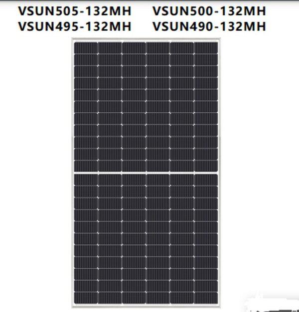 Tấm pin năng lượng mặt trời Vsun505-132MH công suất 505W